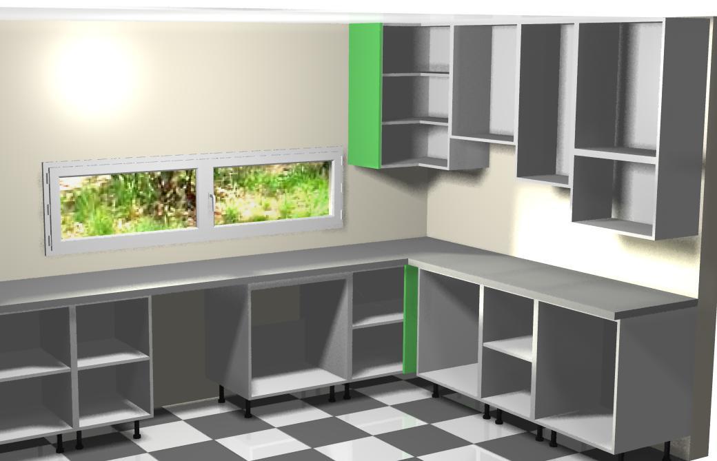 Montando muebles altos de la izquierda a la cocina for Colocar muebles de cocina