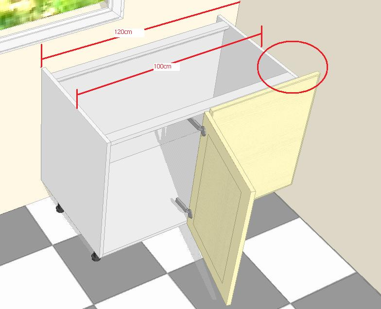 Colocando el primer mueble bajo a la cocina for Medidas de mesones para cocina