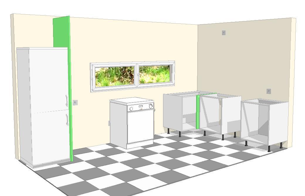 Planificar muebles bajos a la cocina for Muebles de cocina planos pdf