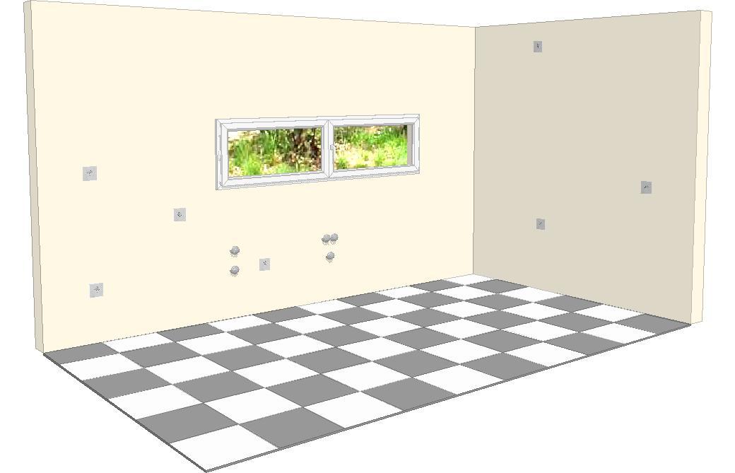 Vista de la cocina diafana for Planos de cocinas 3d
