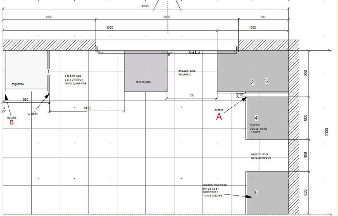 Muebles para cocina medidas estandar ideas for Disenar plano cocina