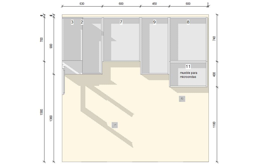 Planificar los muebles altos a la cocina - Altura de muebles de cocina ...