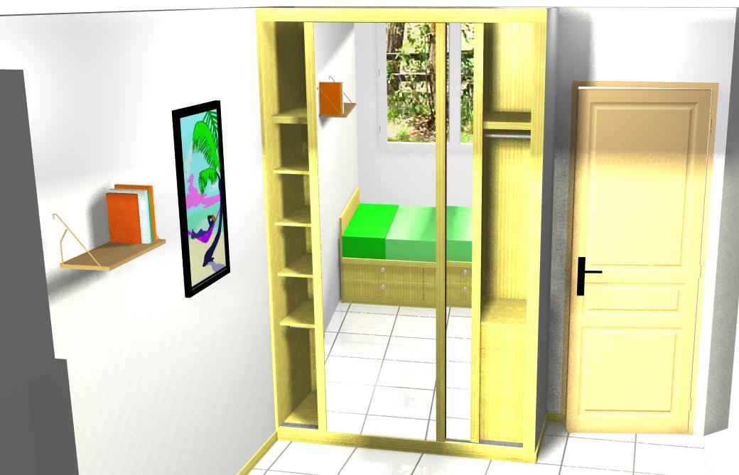 Como forrar vestir o hacer un armario empotrado - Vestir un armario ...